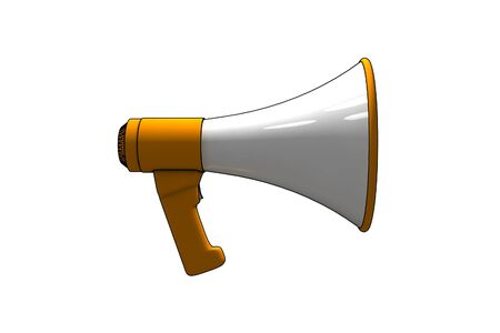 aloud: megaphone - 3d isolated illustration on white