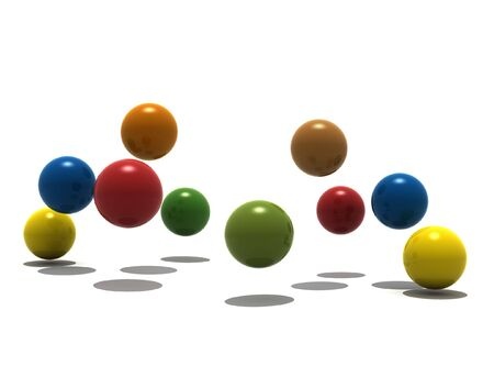 conceptional: isolated balls on white background - 3d render Stock Photo