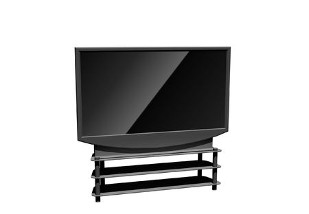 high definition television - isolated 3d illustration Stock Illustration - 4514479