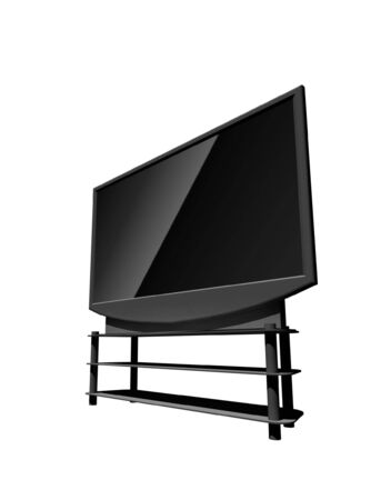 definition: high definition television - isolated 3d illustration Stock Photo