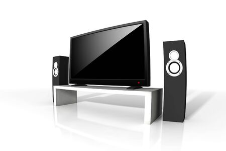 high definition television - isolated 3d illustration Stock Illustration - 5187046