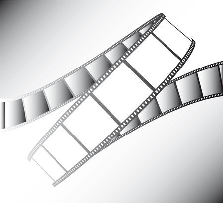 movie/photo film - illustration on gradient background