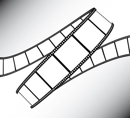 vidéo / photo film - illustration sur fond dégradé