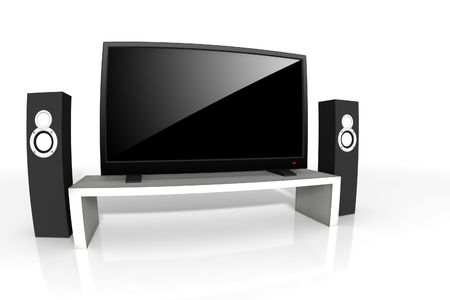 hd: high definition television - isolated 3d illustration Stock Photo