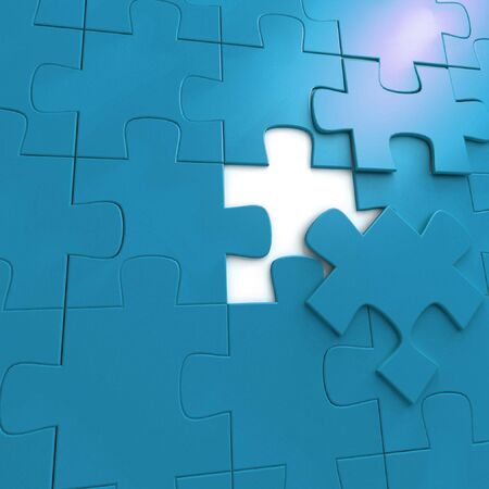one piece of a puzzle - 3d render Stock Photo - 5323979