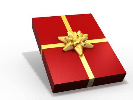isolated gift box - 3d render illustration on white illustration