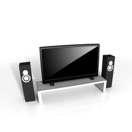 high definition television: high definition television - isolated 3d illustration Stock Photo