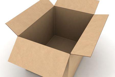 packer: cardboard - isolated 3d render illustration