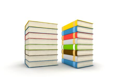 isolated books on white background - 3d render Stock Photo - 5463681