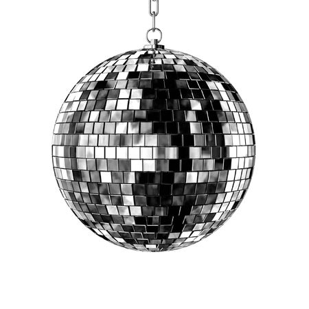disco ball - isolated on white background photo