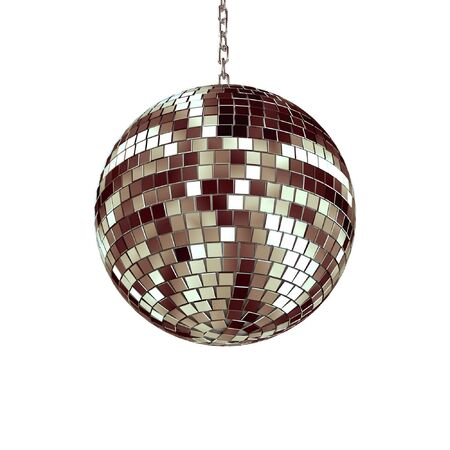 dancefloor: disco ball - isolated on white background