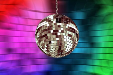 discoball: disco ball with lights - retro party background