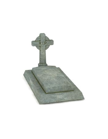 christian halloween: gravestone - 3d render isolated on white Stock Photo