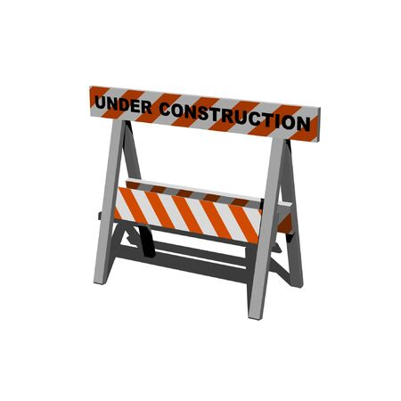 under construction - caution sign - 3d isolated Stock Photo - 5615414