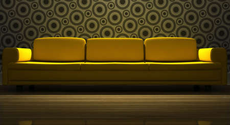 detailed 3d rendering modern sofa in living room Stock Photo - 5697132