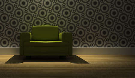 detailed 3d rendering modern armchair in living room Stock Photo - 5872089