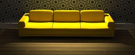 detailed 3d rendering modern sofa in living room Stock Photo - 5872082