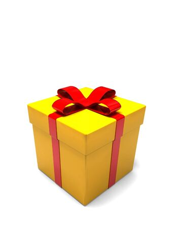 isolated gift box - 3d render on white