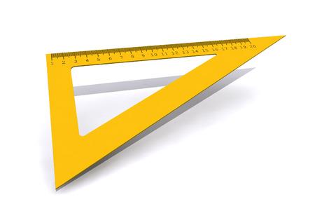ruler: Triangle ruler isolated on white background - 3d illustration