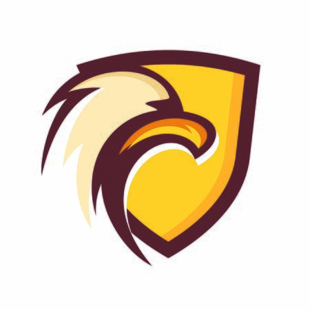 Simple and strong illustration design eagle in shield.  イラスト・ベクター素材