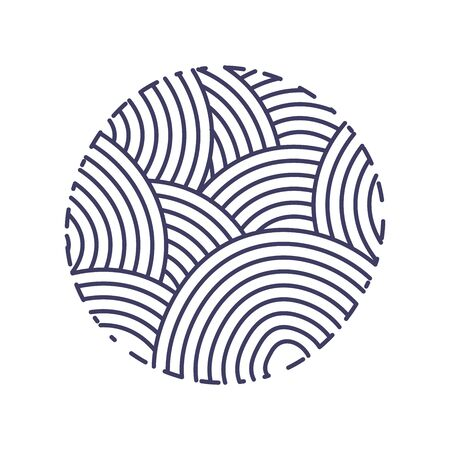 Logo simple design illustration logo design cercle monoligne en couleur marine Logo