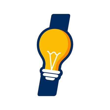Modern logo design Initial I combine with Bulb ( idea icon)