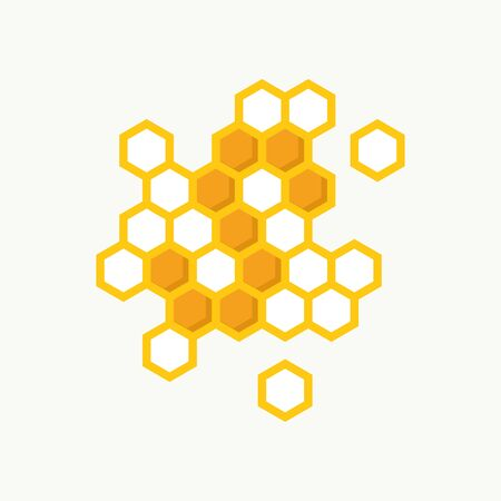 Simple illustration logo design initial S shaped like bee hive.
