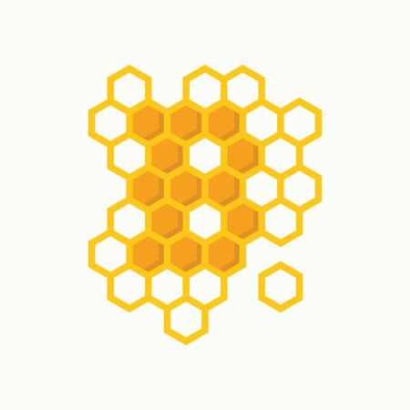 Simple illustration logo design initial B shaped like bee hive. Ilustração