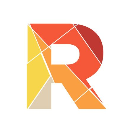 Modern and Clean Illustration logo design mosaic letter R Vectores