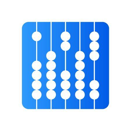 Simple illustration design traditional calculating (sempoa) in circle.