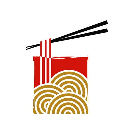 Modern and simple icon design noodle. Illustration