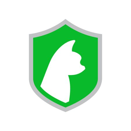 Simple illustration logo design pet guard
