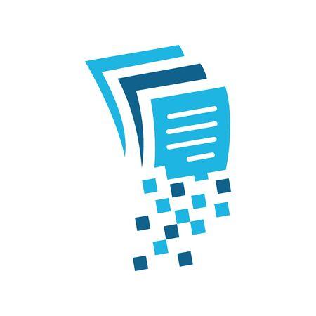 Simple and minimalist illustration logo design document.