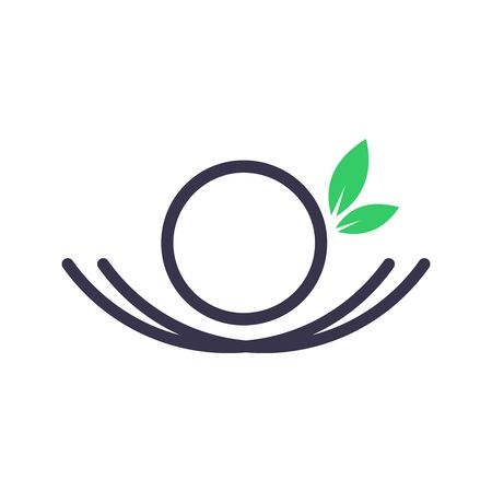 Simple and Minimalist logo design Initial O in nest.