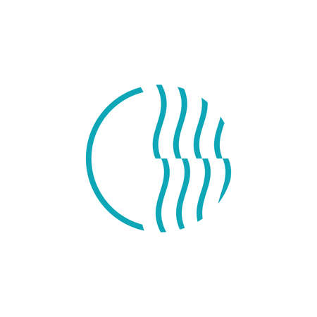 minimalist illustration logo design circle for finance company.