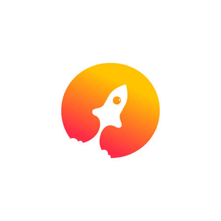 modern logo design combining rocket and initial O