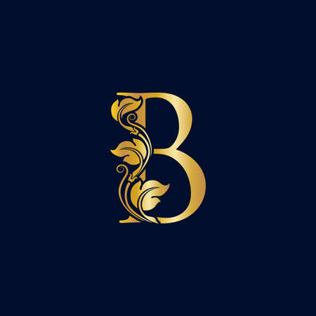 Luxury and Elegant illustration logo design golden initial B Zdjęcie Seryjne - 154313335