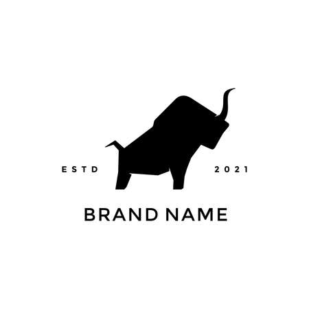 Simple But powerful illustration logo design Strongest Bull or Torro. Ilustracja