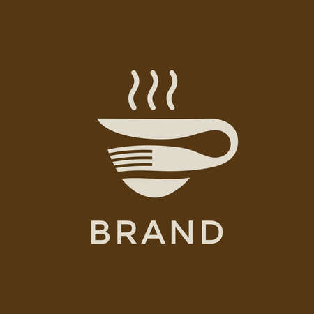 Simple and memorable logo design combining fork, knife and cup, this logo good for company related beverages and food.