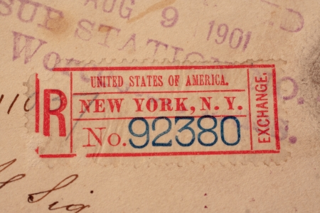 New York Postmarks Background