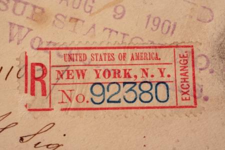 New York Postmarks Background