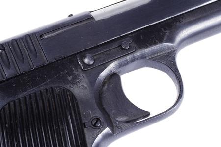 WWII Soviet handgun TT (Tula,Tokarev) isolated on white
