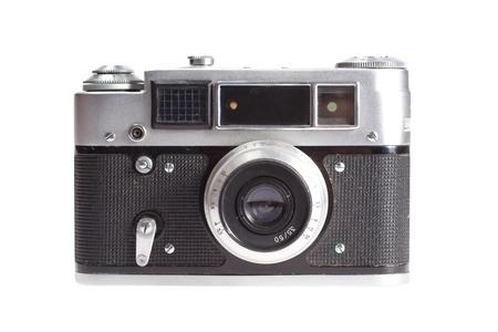 old vintage rangefinder camera isolated on white background Banque d'images