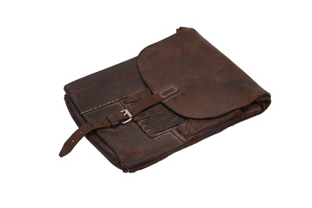 Military Leather Mapcase Of The German Officer Isolated On White - Ww2 us map case