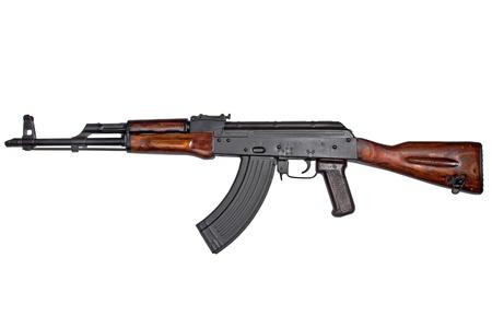 akm:  AKM Avtomat Kalashnikova Kalashnikov assault rifle on white