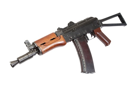 kalashnikov aks74u isolated on a white background Stock Photo - 19950748
