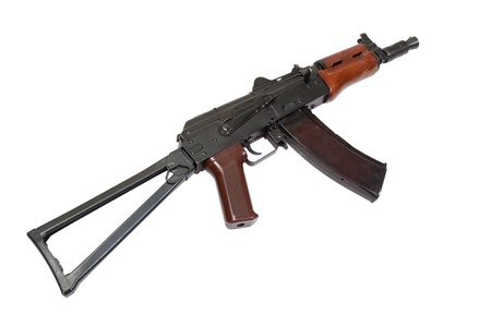 kalashnikov spetsnaz rifle isolated on a white background photo