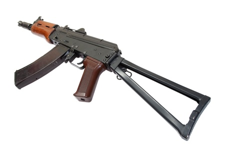 kalashnikov ak spetsnaz isolated on a white background photo