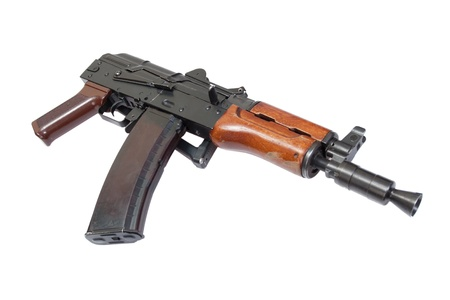 kalashnikov ak para isolated on a white background photo