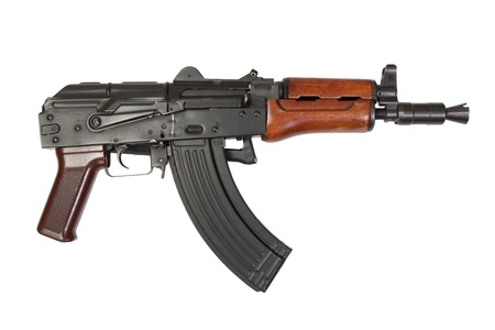 kalashnikov isolated on a white background Stock Photo - 19950896